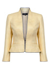 honey coloured mother of the bride jacket with matching dress
