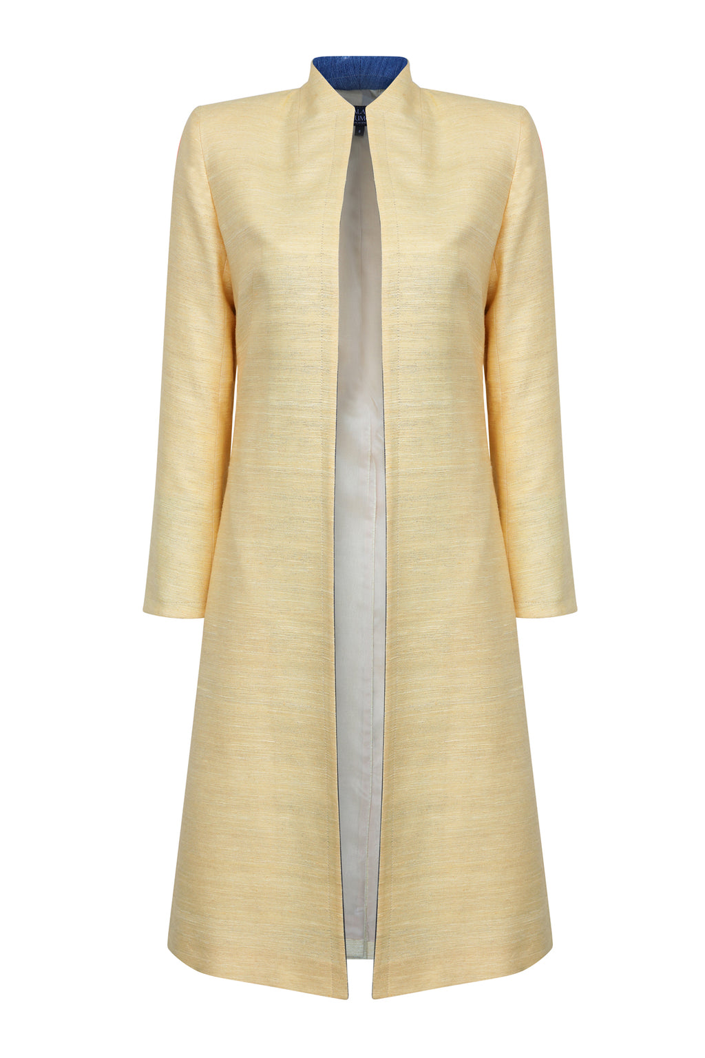 yellow knee length jacket for weddings