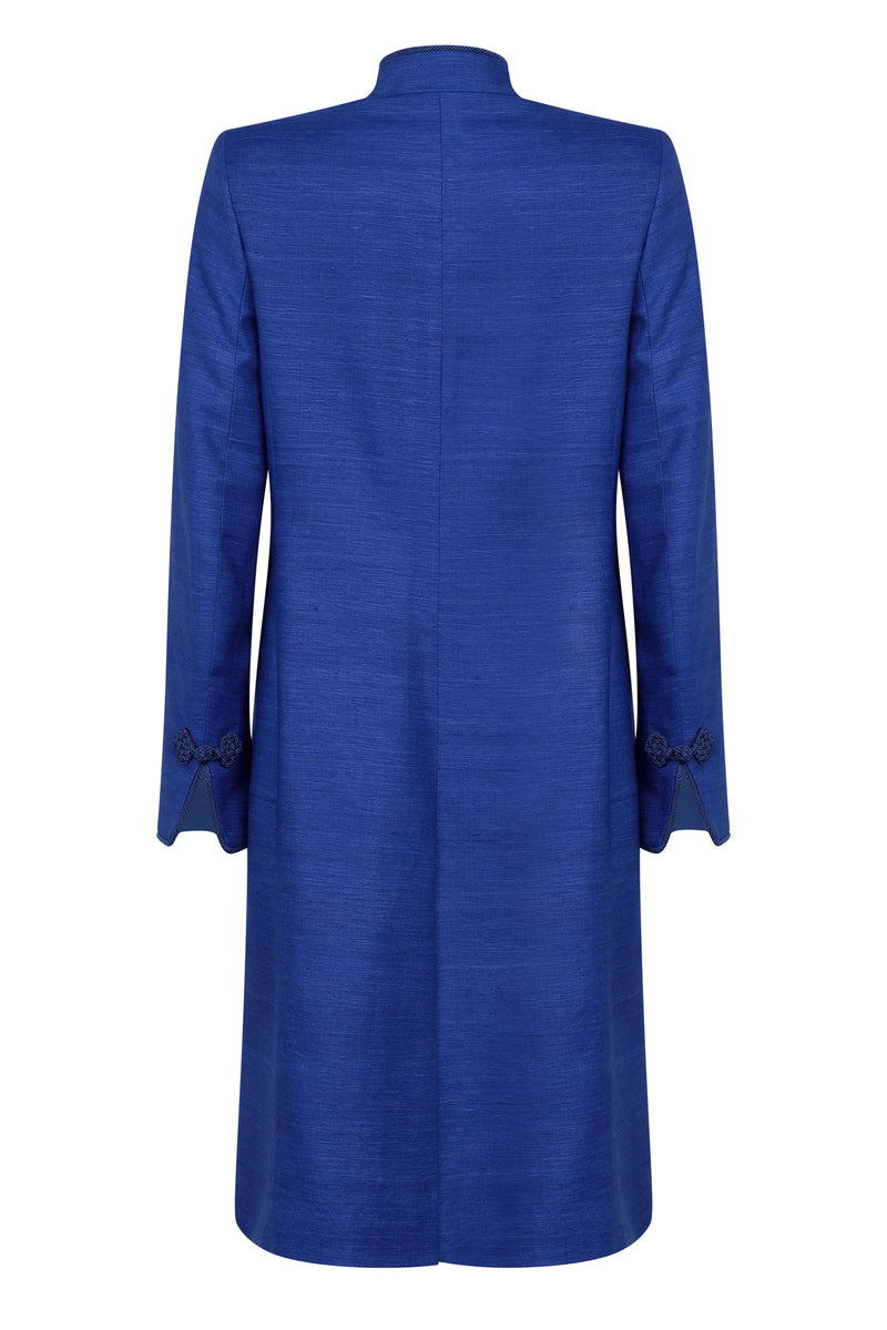 designer blue dress coat for weddings