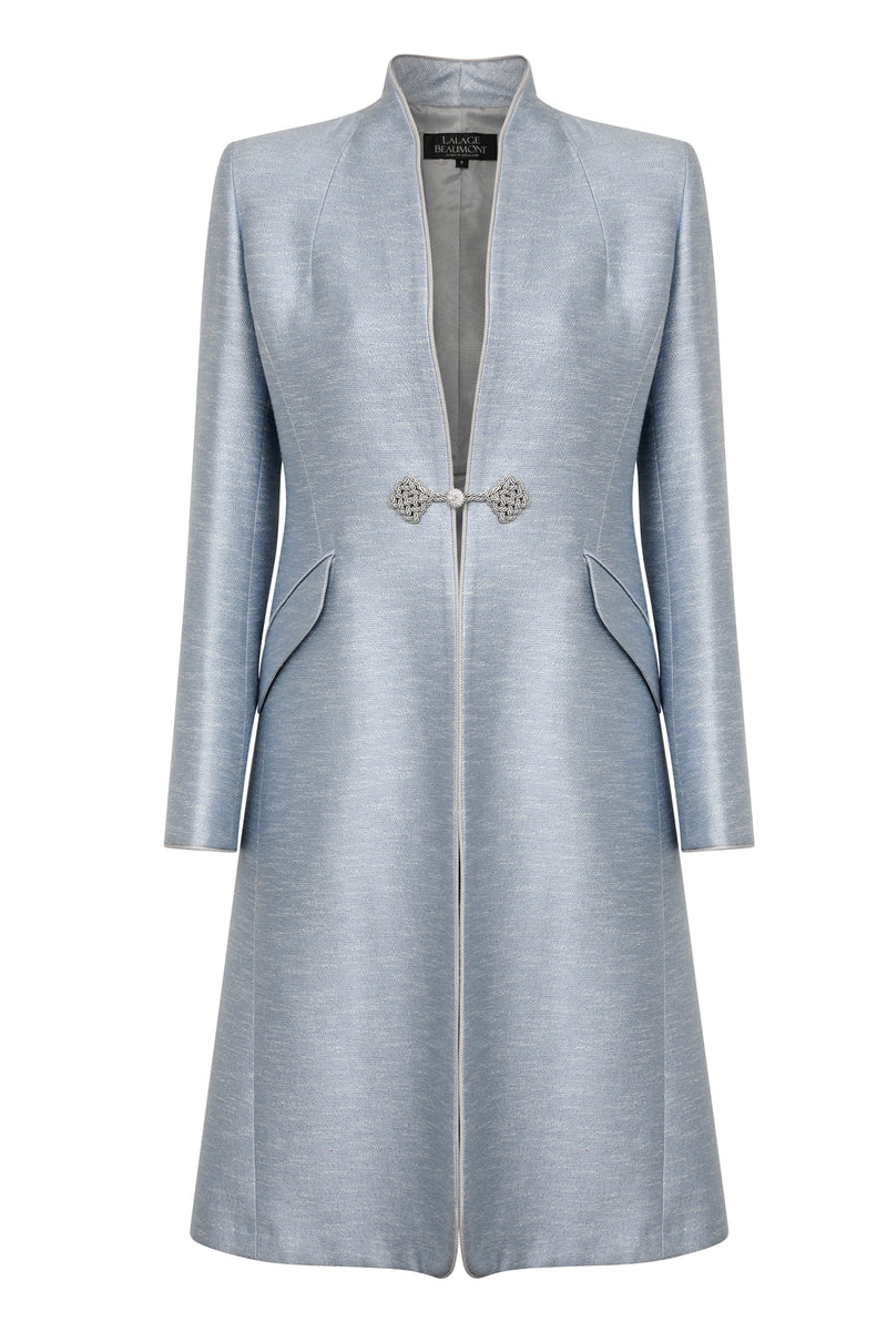 Sky Blue dress coat and matching dress for weddings