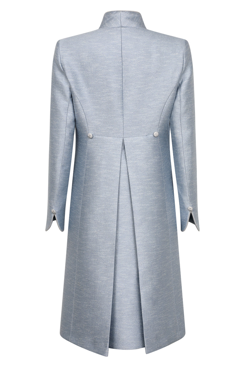 Sky blue 3/4 length dress coat