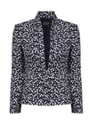Black and White Semi-Plain Jacket - Ingrid