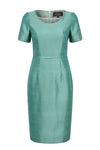jade silk dress for mother of the bride