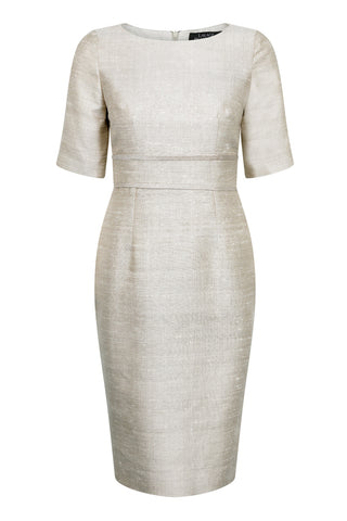 Jade Silk Dupion dress - Amanda