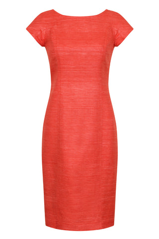 Ruby Silk Knee Length Dress - Angela
