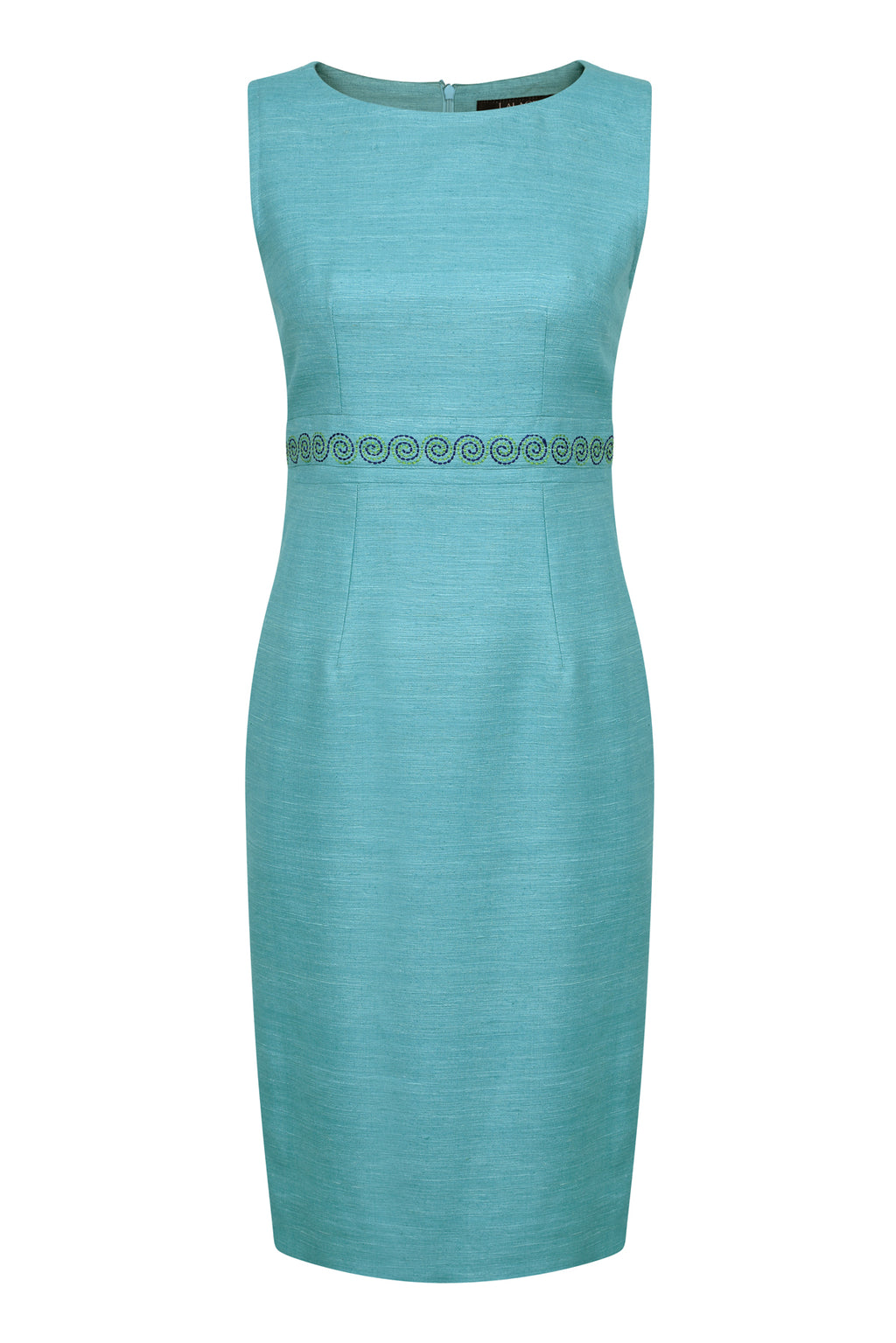 Turquoise silk dress