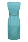 Luxury raw silk turquoise dress