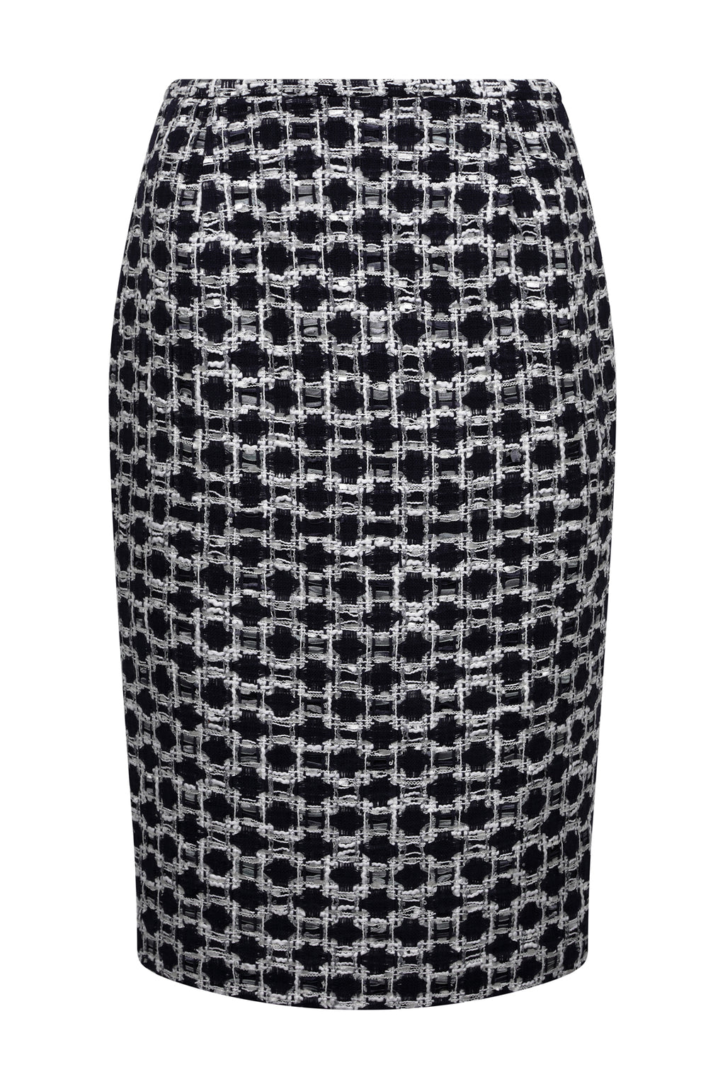 Check business wear skirt for women