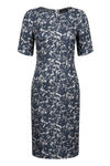 Plain Silk dress in Sky Tweed - Eve