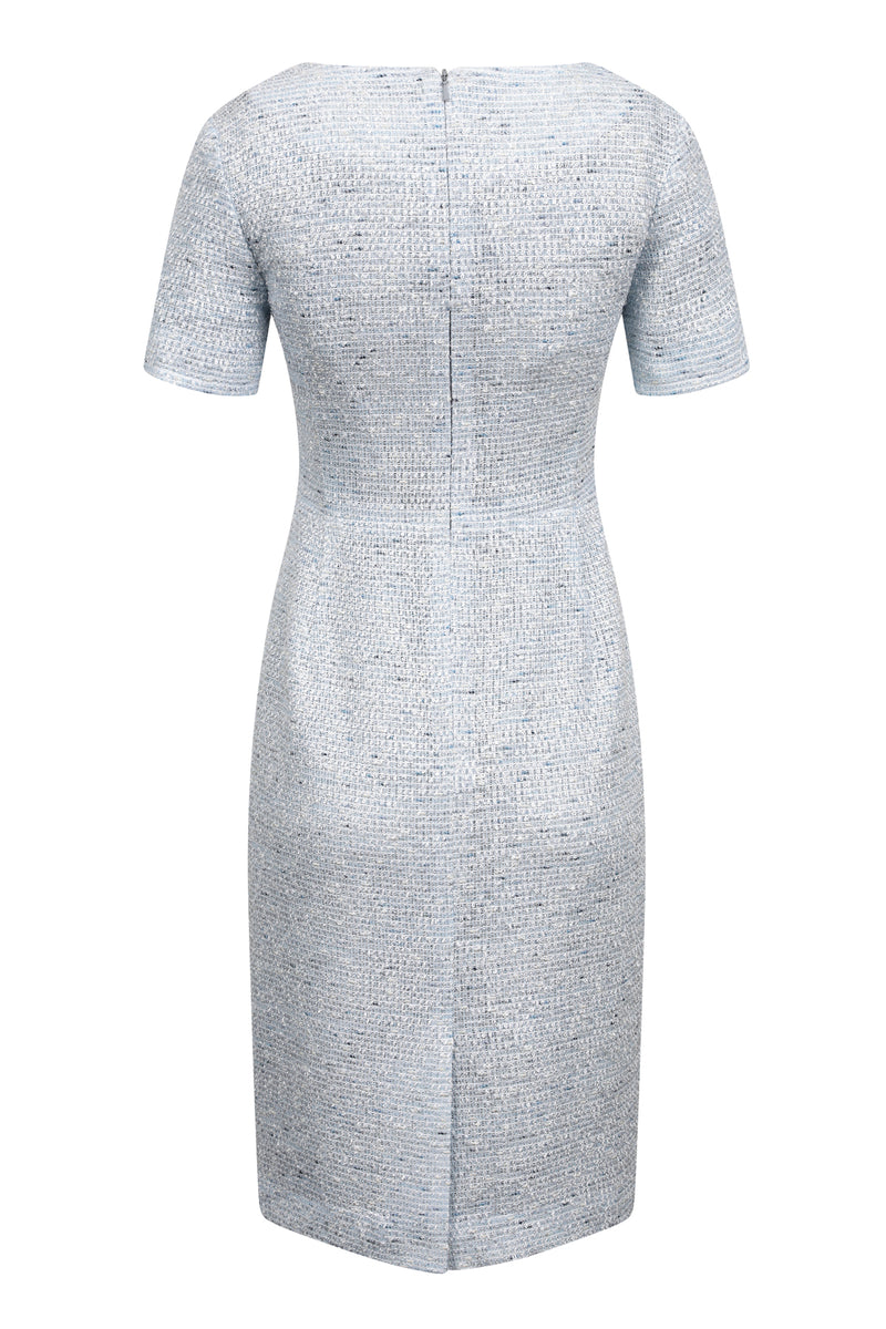 short sleeved blue dress for mothers of the bride