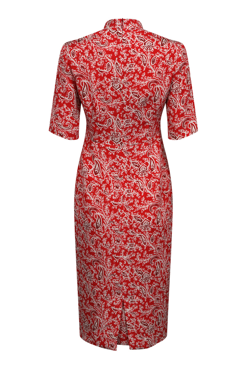 Scarlet print designer business dress