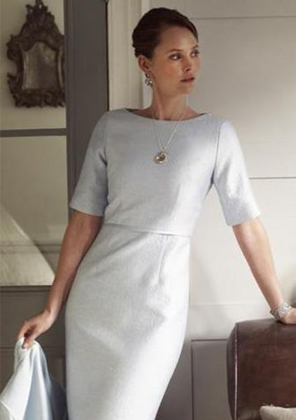 cream occasion wear dress by lalage beaumont for wedding and events