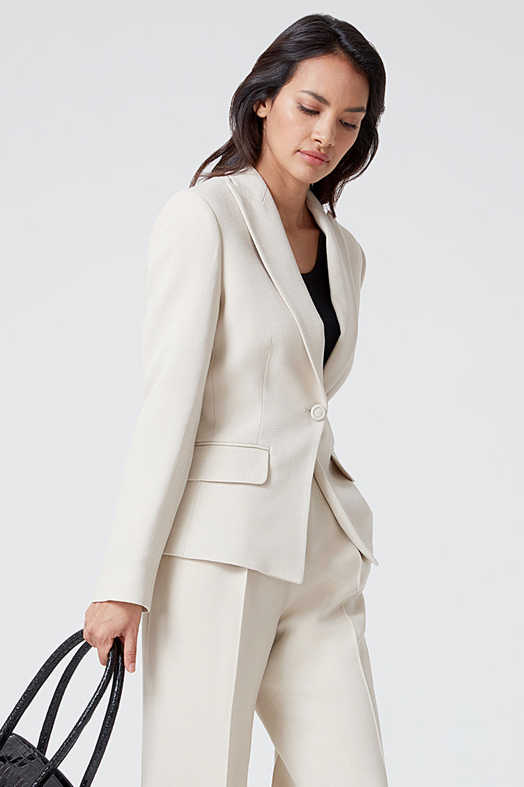 Beige Faille Jacket - Inez