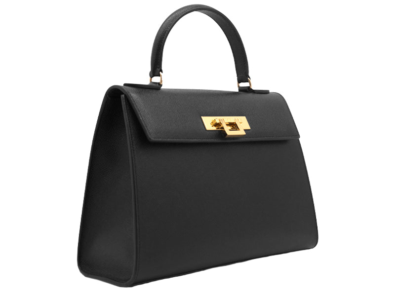 Fonteyn Large Palmellato Leather Handbag - Black