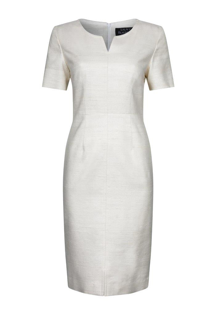 Cream womens occasion wear dress