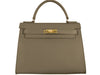 Manon Large Alce Leather Handbag - Taupe