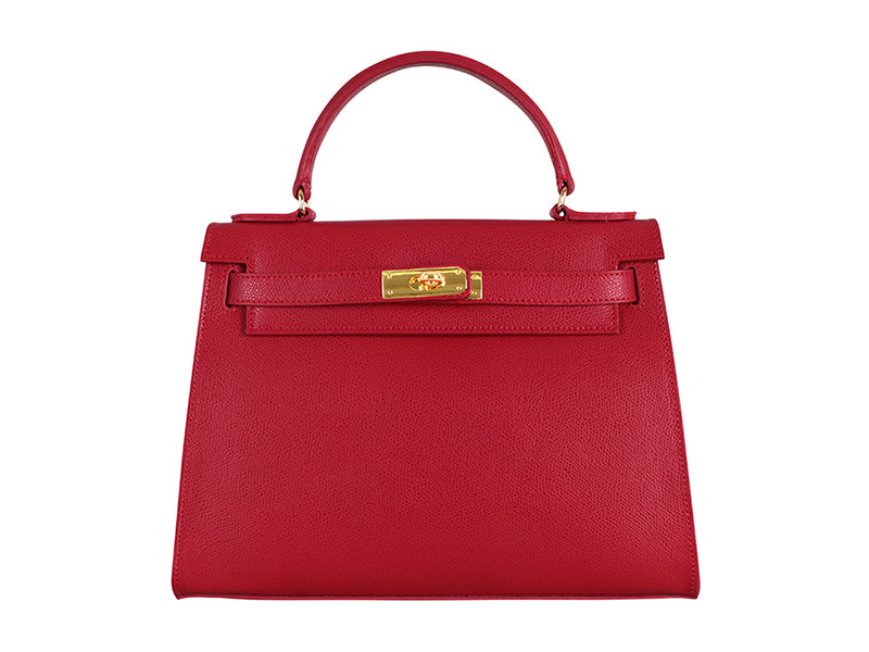 Manon Large Palmellato Leather Handbag - Red