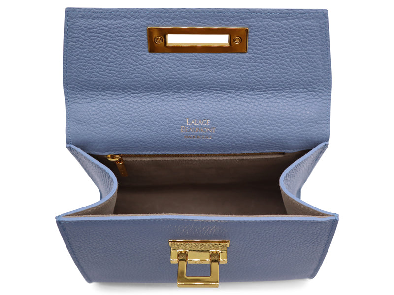 Fonteyn Midi - Alce Leather Handbag - Bluebell