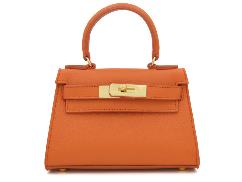 Manon Mignon - Alce Leather Handbag - Orange