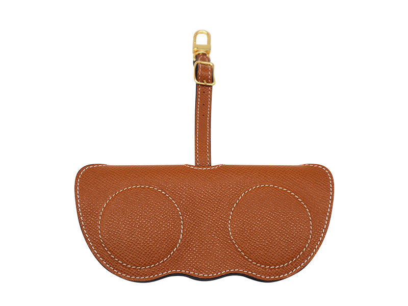 Sunglasses Holder Palmellato Leather - Tan