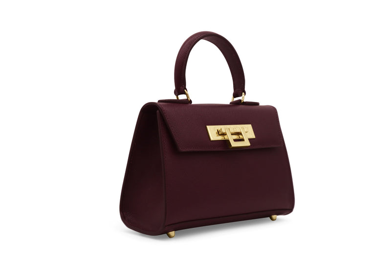 Fonteyn Mignon - Palmellato Leather Handbag - Wine