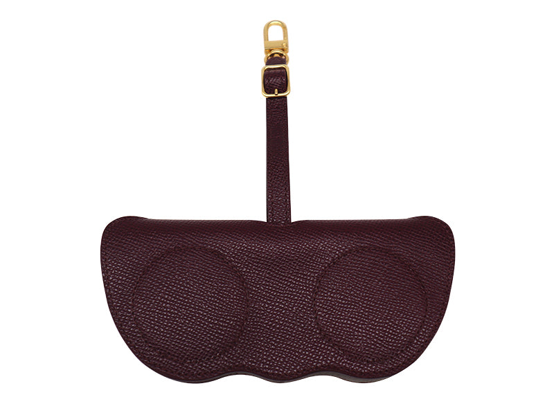 Sunglasses Holder Palmellato Leather - Wine