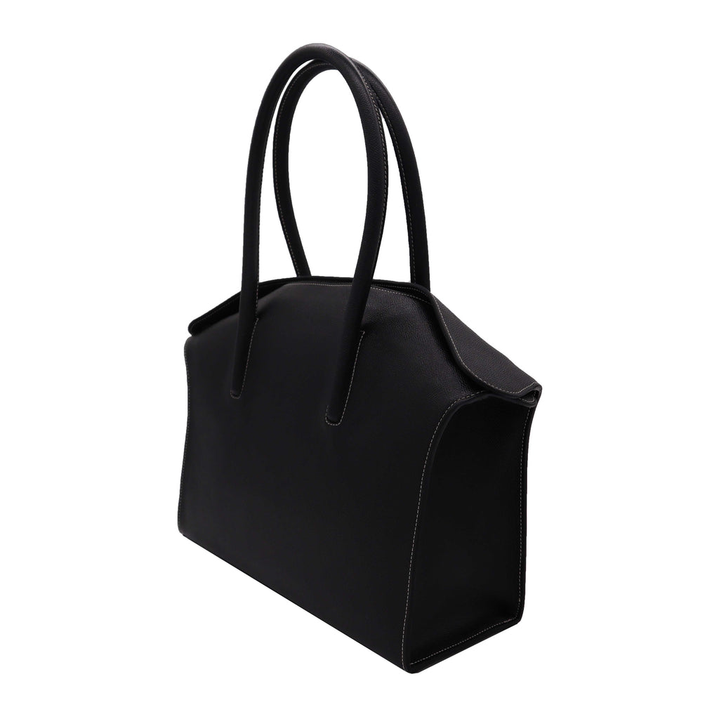Carmen -  Large Tote Handbag in Palmellato Leather - Black