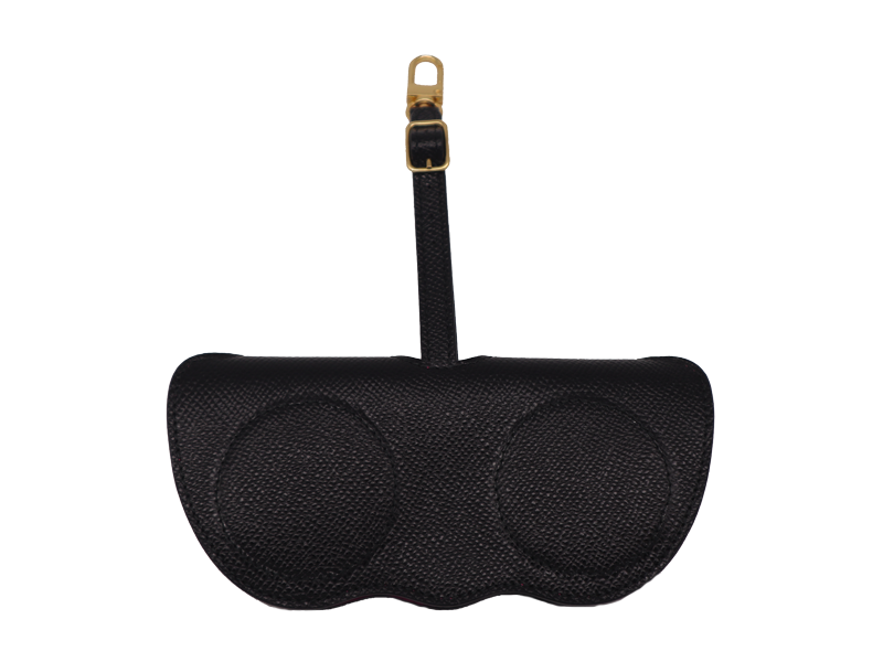 Sunglasses Holder Palmellato Leather - Black