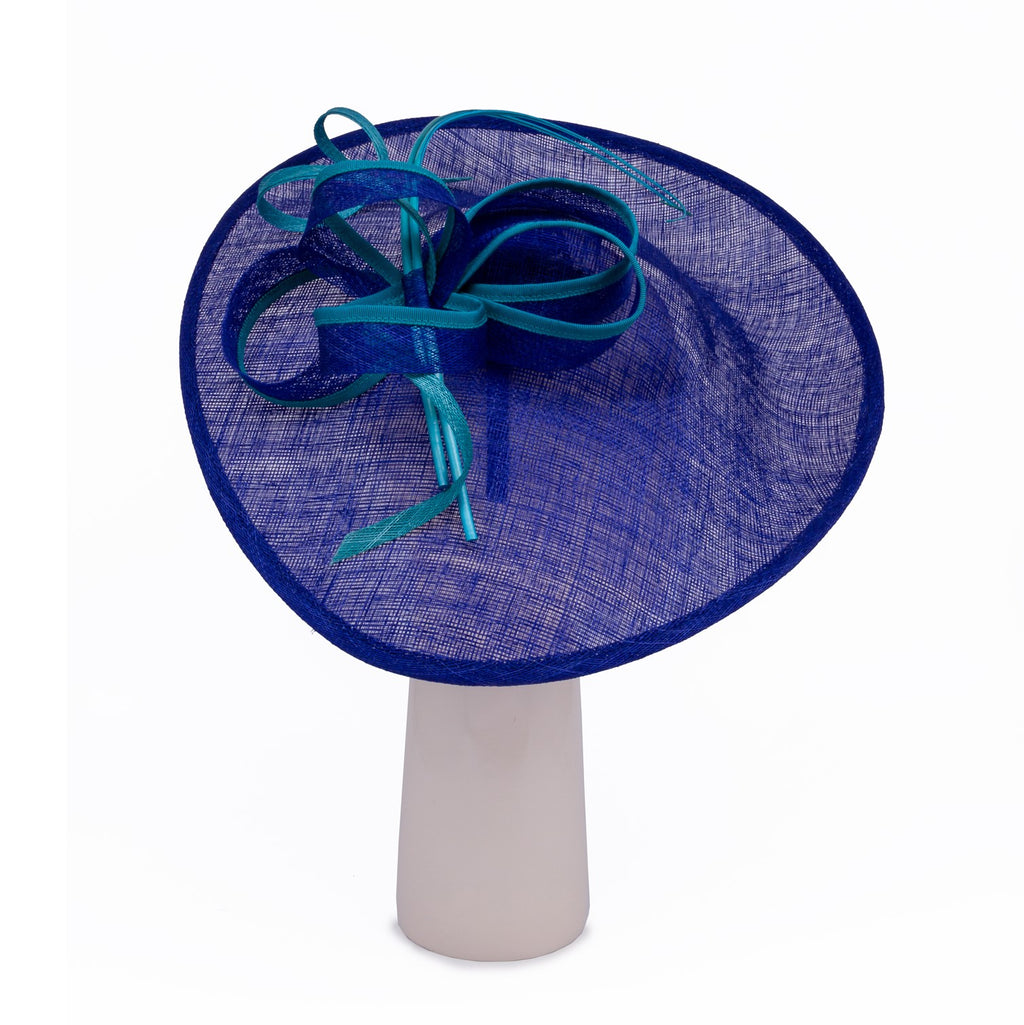 Teardrop Disk Hat in Royal and Turquoise