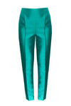 Emerald Sateen Trousers - Phoebe