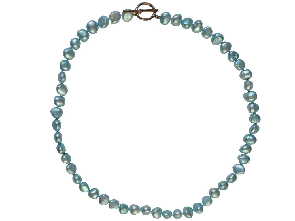 Freshwater Pearl Necklace - Aqua