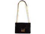Coppelia Large 'Croc' Print Leather Shoulder Bag - Black