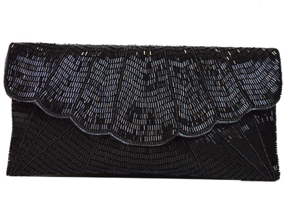 Sequin clutch Handbag - Black
