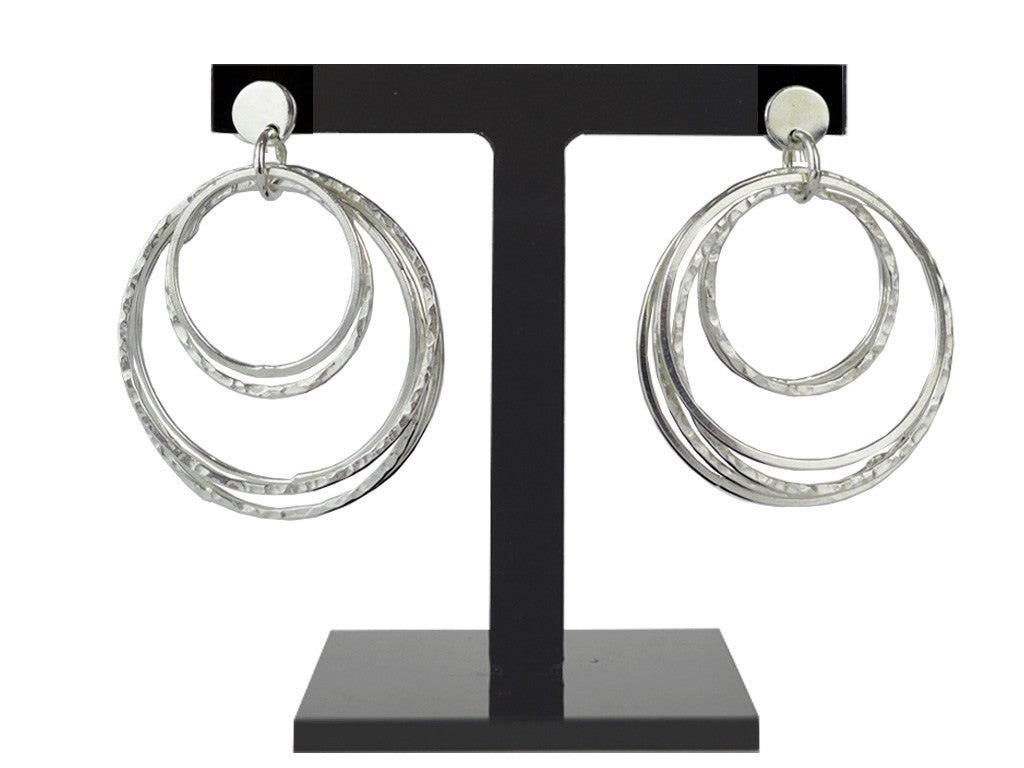 Silver Earrings - Large Circles