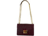 Coppelia Large 'Croc' Print Leather Shoulder Bag - Wine