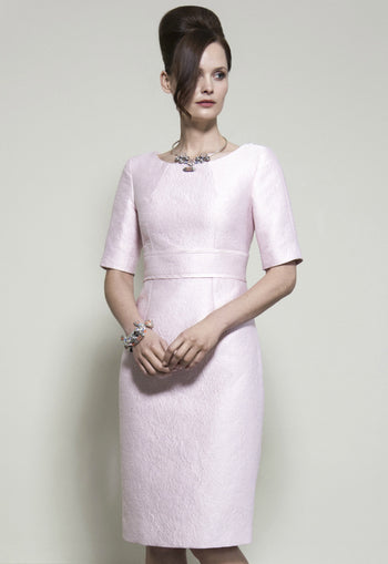 luxury pink dress with sleeves for mothers of the bride outfit ideas