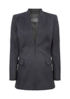 Long Line Edge-to-Edge Jacket in Cashmere - Evelyn