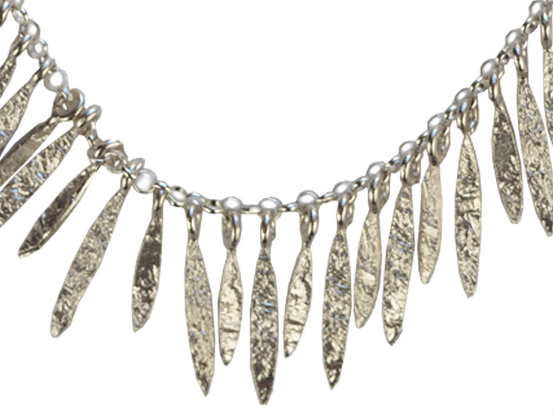 Silver Necklace - Feather