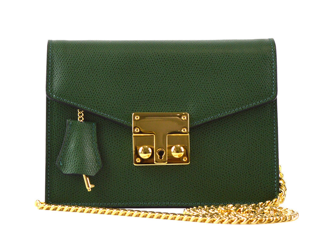 Coppelia Small Palmellato Leather Shoulder Bag - Dark Green