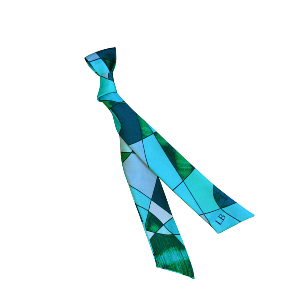 Ribbon Silk Scarf - Sagrada Jade