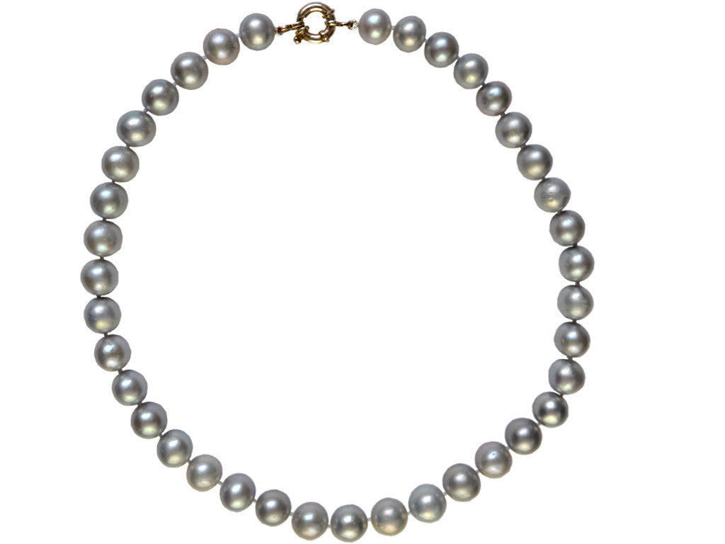 Pearl Necklace - Grey