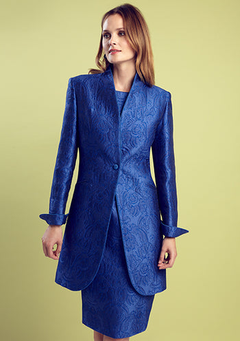 Blue dress with matching jacket for mothers of the bride and groom
