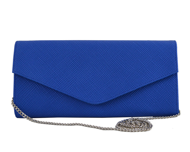 Handbag - Clutch Handbag Leather - Royal