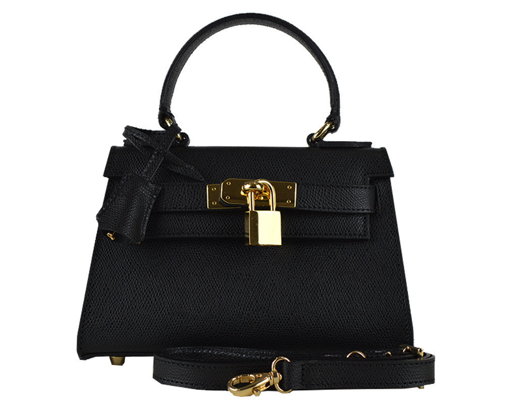 Handbag - Manon Mignon Palmellato Leather Handbag - Black