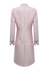 pink wedding guest coat