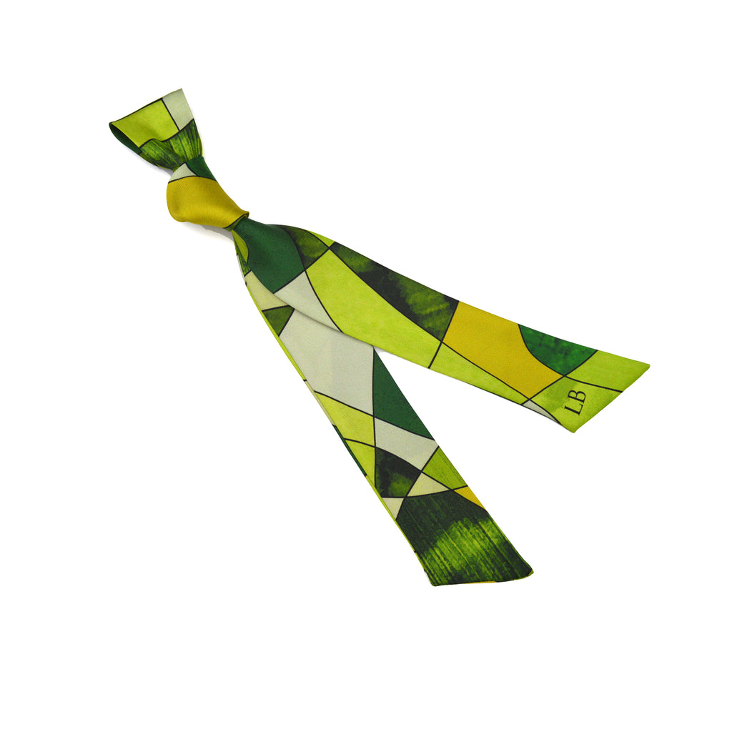 Ribbon Silk Scarf - Sagrada Lime