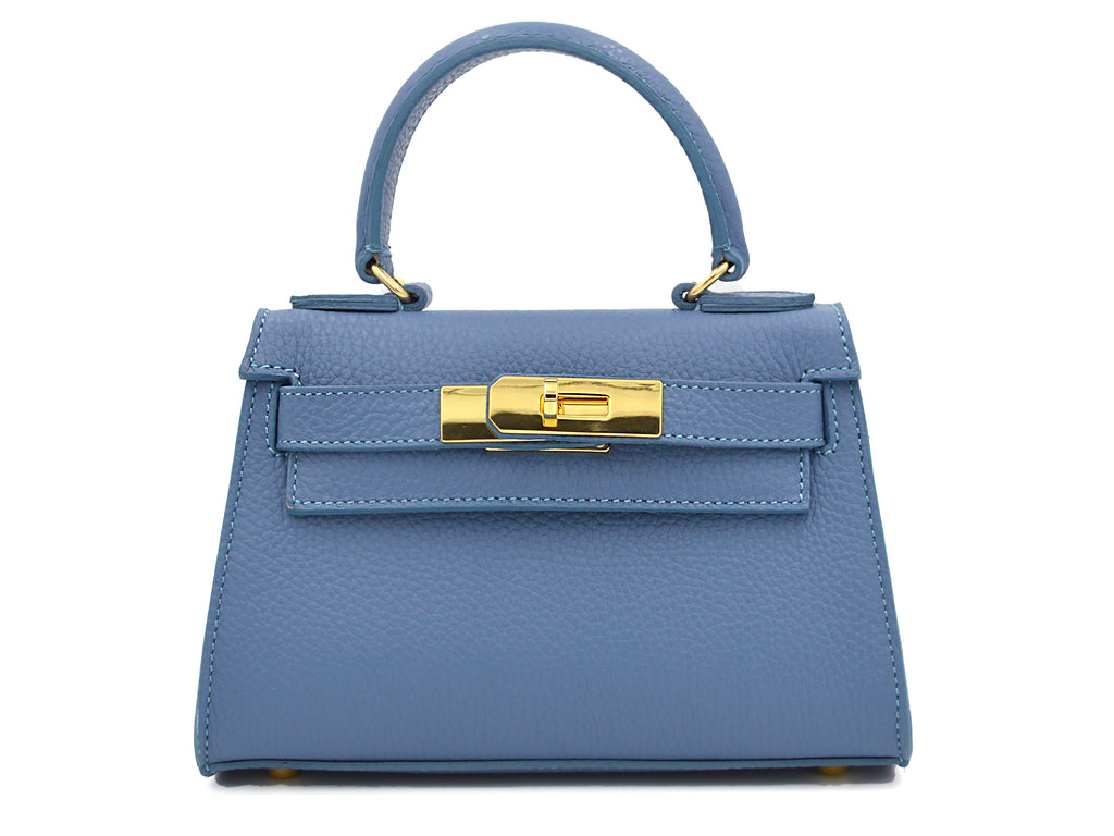 Manon Mignon - Alce Leather Handbag - Bluebell