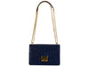 Coppelia 'Croc Print' Leather Shoulder Bag - Navy