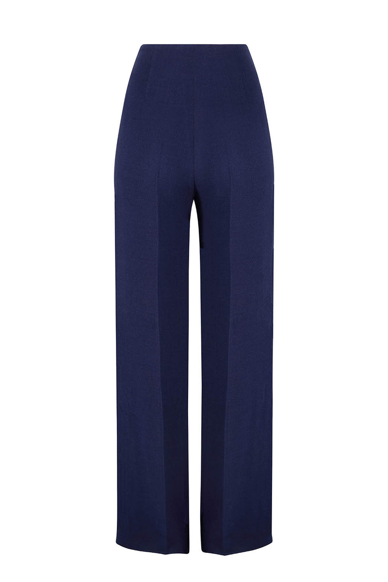 Navy Faille Trousers - Paloma