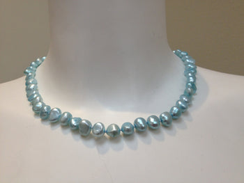 Necklace - Freshwater Pearl Necklace - Aqua